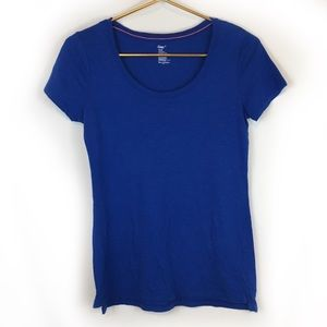 GAP Cobalt Blue Scoop Neck Tee Shirt